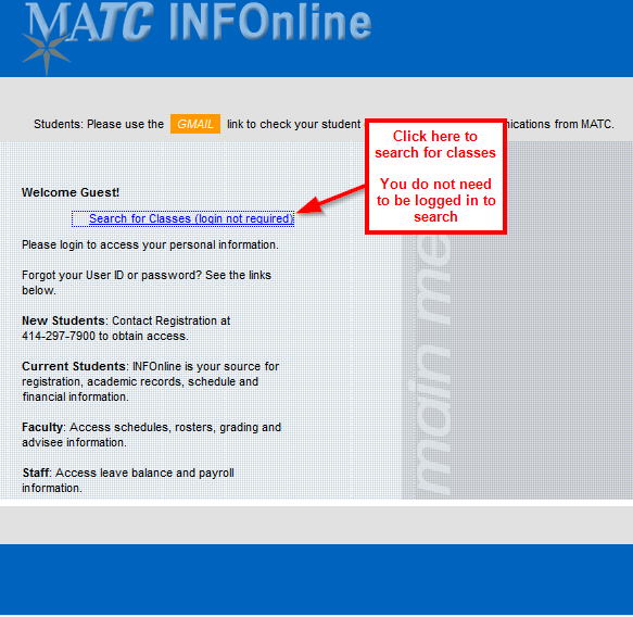 Matc gmail login